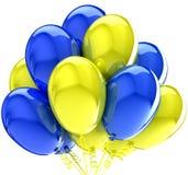 Μπαλόνια. Γενέθλια και διακόσμηση συμβαλλόμενων μερών. απεικόνιση αποθεμάτων