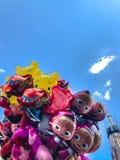 Μπαλόνια, δημοφιλής κινηματογράφηση σε πρώτο πλάνο κινούμενων σχεδίων στην Κρακοβία Στοκ φωτογραφίες με δικαίωμα ελεύθερης χρήσης
