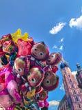 Μπαλόνια, δημοφιλής κινηματογράφηση σε πρώτο πλάνο κινούμενων σχεδίων στην Κρακοβία Στοκ φωτογραφία με δικαίωμα ελεύθερης χρήσης
