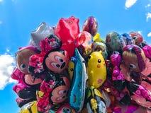 Μπαλόνια, δημοφιλής κινηματογράφηση σε πρώτο πλάνο κινούμενων σχεδίων στην Κρακοβία Στοκ Φωτογραφία