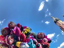 Μπαλόνια, δημοφιλής κινηματογράφηση σε πρώτο πλάνο κινούμενων σχεδίων στην Κρακοβία Στοκ Εικόνα