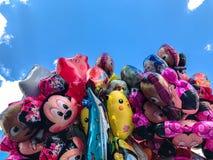 Μπαλόνια, δημοφιλής κινηματογράφηση σε πρώτο πλάνο κινούμενων σχεδίων στην Κρακοβία Στοκ Φωτογραφίες