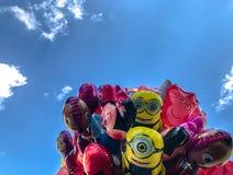 Μπαλόνια, δημοφιλής κινηματογράφηση σε πρώτο πλάνο κινούμενων σχεδίων στην Κρακοβία Στοκ Εικόνες