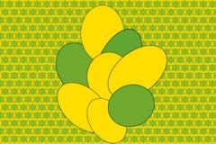 Μπαλόνια, διακοπές, κίτρινο υπόβαθρο, πράσινο υπόβαθρο, χαρά, ηλιόλουστη διάθεση, ευτυχία απεικόνιση αποθεμάτων
