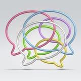 Μπαλόνια διαλογικού παραθύρου καλωδίων Στοκ εικόνα με δικαίωμα ελεύθερης χρήσης