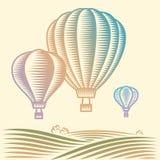 Μπαλόνια ζεστού αέρα Στοκ εικόνα με δικαίωμα ελεύθερης χρήσης