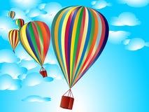μπαλόνια ζωηρόχρωμα διανυσματική απεικόνιση