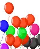 Μπαλόνια που απομονώνονται ζωηρόχρωμα στο λευκό Στοκ Εικόνα