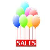 Μπαλόνια πωλήσεων στοκ εικόνες