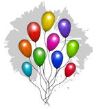 μπαλόνι ανασκόπησης Στοκ Φωτογραφίες