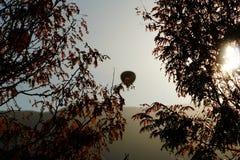 Μπαλόνι ζεστού αέρα μουτζουρωμένο Στοκ φωτογραφία με δικαίωμα ελεύθερης χρήσης