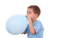 μπαλόνι που φυσά - επάνω Στοκ Φωτογραφίες