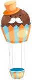 μπαλόνι cupcake Στοκ Φωτογραφία