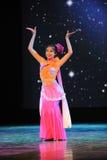 Μπαμπού κάτω από το σεληνόφωτο-εθνικό χορό Στοκ εικόνες με δικαίωμα ελεύθερης χρήσης