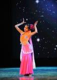 Μπαμπού κάτω από το σεληνόφωτο-εθνικό χορό Στοκ εικόνα με δικαίωμα ελεύθερης χρήσης