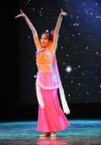 Μπαμπού κάτω από το σεληνόφωτο-εθνικό χορό Στοκ Εικόνες
