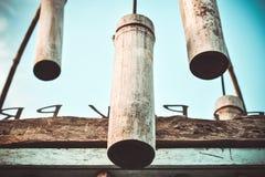 μπαμπού gong Στοκ εικόνα με δικαίωμα ελεύθερης χρήσης