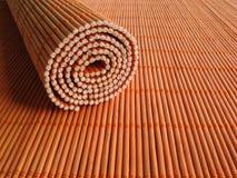 μπαμπού placemats ξύλινο στοκ εικόνες
