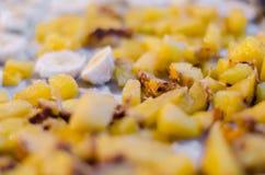Μπανάνα & ανανάς Στοκ εικόνες με δικαίωμα ελεύθερης χρήσης