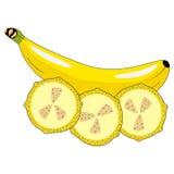 Μπανάνα με τις φέτες της μπανάνας Στοκ φωτογραφία με δικαίωμα ελεύθερης χρήσης