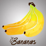 Μπανάνα με τον παφλασμό watercolor Στοκ Φωτογραφίες