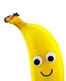 Μπανάνα με το πρόσωπο smiley Στοκ εικόνες με δικαίωμα ελεύθερης χρήσης