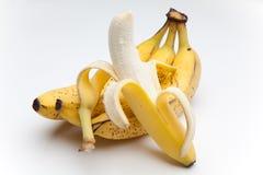 μπανάνα που ξεφλουδίζετ&al Στοκ Φωτογραφίες