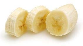 μπανάνα που τεμαχίζεται στοκ εικόνες