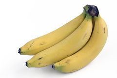 Μπανάνα στην άσπρη ανασκόπηση Στοκ φωτογραφία με δικαίωμα ελεύθερης χρήσης