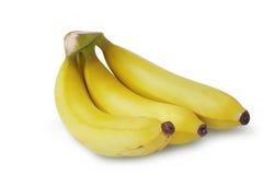 Μπανάνα στο άσπρο υπόβαθρο με το ψαλίδισμα της πορείας στοκ εικόνες