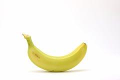 Μπανάνα στο άσπρο υπόβαθρο Στοκ Εικόνες