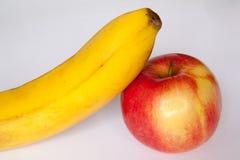Μπανάνα της Apple Στοκ Φωτογραφίες