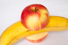 Μπανάνα της Apple Στοκ Εικόνες