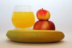Μπανάνα χυμού της Apple Στοκ Εικόνες