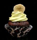 Μπανάνα cupcake Στοκ Εικόνες
