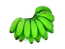 Μπανάνες που απομονώνονται πράσινες στο λευκό Στοκ εικόνες με δικαίωμα ελεύθερης χρήσης