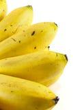 Μπανάνες που απομονώνονται σε ένα λευκό Στοκ φωτογραφία με δικαίωμα ελεύθερης χρήσης