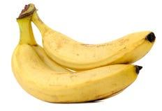 Μπανάνες που απομονώνονται στην άσπρη ανασκόπηση Στοκ Εικόνα
