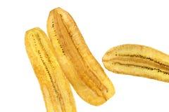 Μπανανών όχι γλυκό που απομονώνεται τριζάτο Στοκ Εικόνες