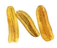 Μπανανών όχι γλυκό που απομονώνεται τριζάτο Στοκ εικόνες με δικαίωμα ελεύθερης χρήσης