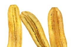 Μπανανών όχι γλυκό που απομονώνεται τριζάτο Στοκ φωτογραφία με δικαίωμα ελεύθερης χρήσης