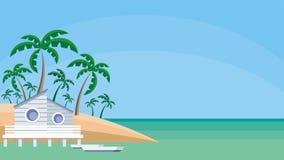 μπανγκαλόου στην ακτή ελεύθερη απεικόνιση δικαιώματος