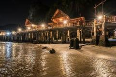 Μπανγκαλόου τη νύχτα Στοκ φωτογραφίες με δικαίωμα ελεύθερης χρήσης