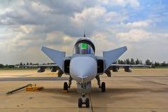 ΜΠΑΝΓΚΟΚ - 2 ΙΟΥΛΊΟΥ: JAS 39 Gripen Στοκ Φωτογραφία
