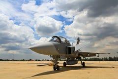 ΜΠΑΝΓΚΟΚ - 2 ΙΟΥΛΊΟΥ: JAS 39 Gripen Στοκ Εικόνες