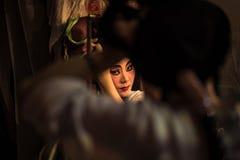 ΜΠΑΝΓΚΟΚ - 16 ΟΚΤΩΒΡΊΟΥ: Μια κινεζική μάσκα ζωγραφικής ηθοποιών οπερών στο χ Στοκ εικόνα με δικαίωμα ελεύθερης χρήσης