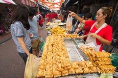 ΜΠΑΝΓΚΟΚ, - ΣΤΙΣ 10 ΦΕΒΡΟΥΑΡΊΟΥ: Κινεζικό νέο έτος 2013 - εορτασμοί μέσα Στοκ Φωτογραφία