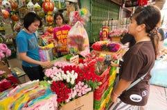 ΜΠΑΝΓΚΟΚ, - ΣΤΙΣ 10 ΦΕΒΡΟΥΑΡΊΟΥ: Κινεζικό νέο έτος 2013 - εορτασμοί μέσα Στοκ φωτογραφία με δικαίωμα ελεύθερης χρήσης