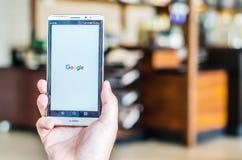 ΜΠΑΝΓΚΟΚ, ΤΑΪΛΑΝΔΗ - 18 ΑΠΡΙΛΊΟΥ 2017: Εικονίδια Google στη μηχανή αναζήτησης Ιστού Στοκ εικόνα με δικαίωμα ελεύθερης χρήσης