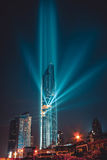 ΜΠΑΝΓΚΟΚ, ΤΑΪΛΑΝΔΗ - 28 ΑΥΓΟΎΣΤΟΥ 2016: Το νέο σύγχρονο κτήριο της Μπανγκόκ εντοπίζει στην επιχειρησιακή περιοχή, πύργος Mahanakh Στοκ Εικόνα
